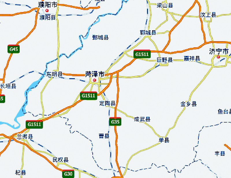 定陶区城区地图